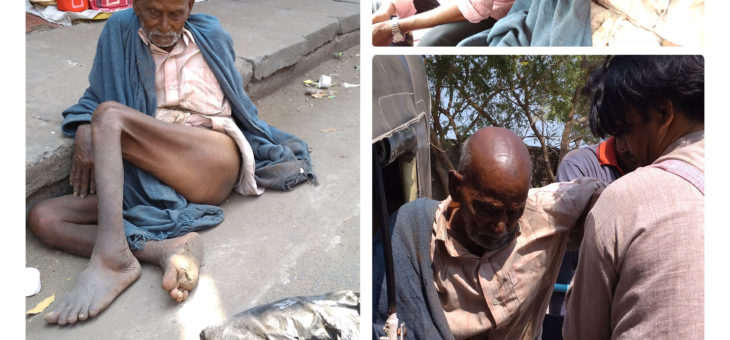 Neglected 75 years old grandpa rehabilitated from street…
