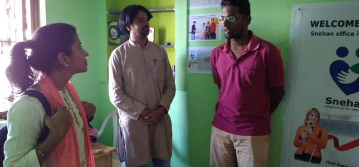Aabha Gupta from Pollination Project visited Snehan Drop-in Center