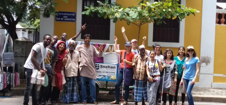 Sabriye Tenberken and 2018 kanthari participants visited Snehan