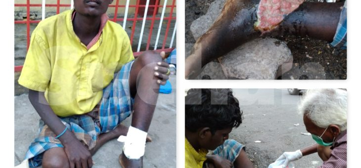 Snehan gave medical assistance to homeless man