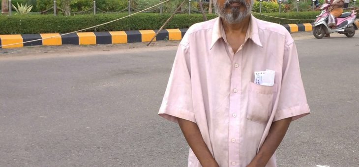 Perumal homeless man given health care and support by Snehan