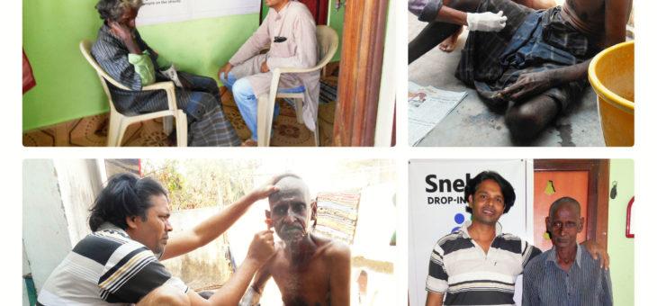 Mani uncle visited Snehan Drop-in Center for sanitation