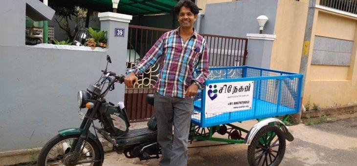 Mr. Theva Neethi Dhas IAS, gifted TVS XL to Snehan