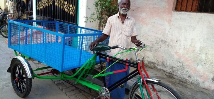 Tricycle donation by Mr. Thirunavukkarasu